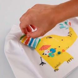 camiseta manga larga bebe boboli con detalle de tela