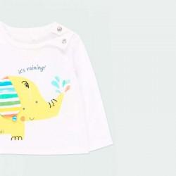 camiseta manga larga bebe boboli con divertido estampado