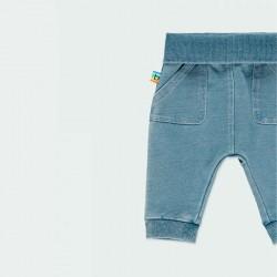 pantalón denim elástico de bebe boboli con detalle