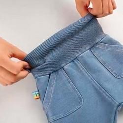 pantalón denim elástico de bebe boboli con cintura elástica