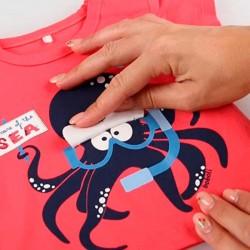 camiseta bebe manga corta roja de boboli con detalle en estampado