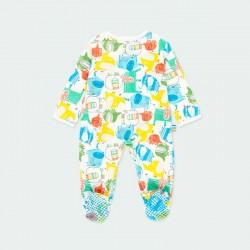 pelele pijama de bebé de colores boboli por detrás