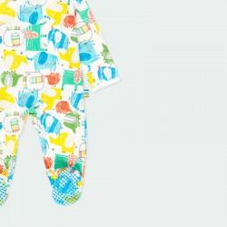 pelele pijama de bebé de colores boboli con pies