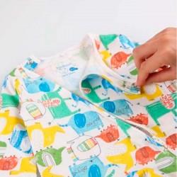 pelele pijama de bebé de colores boboli con fácil colocación