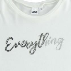 detalle camiseta blanca niña ido volantes