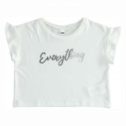 camiseta blanca niña ido volantes