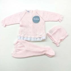 conjunto punto rosa de bebé juliana
