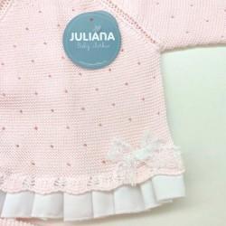 conjunto bebe juliana rosa con capota