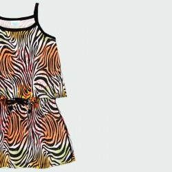 detalle vestido niña primavera verano  estampado print colores