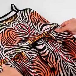 vestido niña primavera verano  estampado print colores y elástico