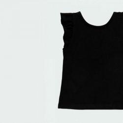 camiseta niña negra desmangada