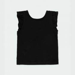 camiseta negra niña desmangada