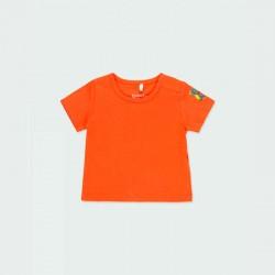camiseta manga corta bebe naranja