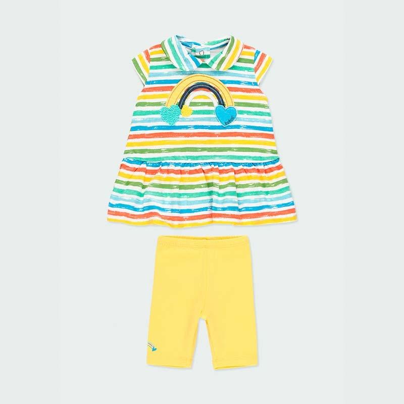 conjunto bebe niña vestido y leggins de verano