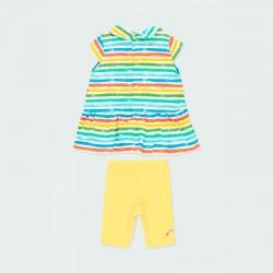 conjunto bebe niña vestido y leggins de verano por detrás
