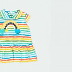 vestido punto bebe rayas colores boboli