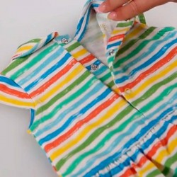 fácil colocación vestido punto bebe rayas colores boboli