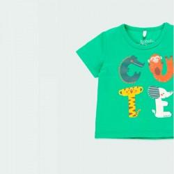 camiseta bebe verde manga corta verde