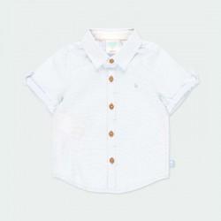 camisa manga corta bebe azul claro