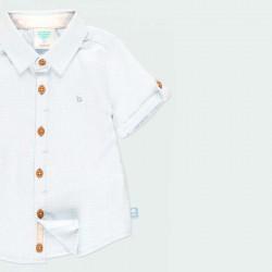 detalle camisa manga corta bebe azul claro