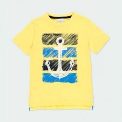 camiseta amarilla niño estampado ancla