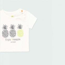 camiseta niño blanca estampado piñas