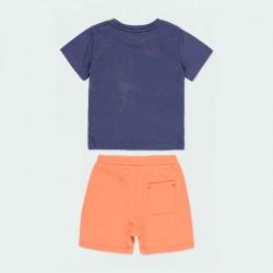 conjunto punto niño azul y naranja de boboli