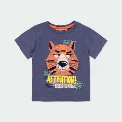 camiseta manga corta niño estampado tigre