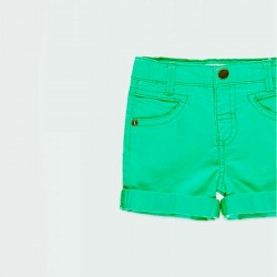 detalle bermuda denim verde niño boboli
