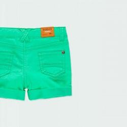 detalle bermuda denim verde niño boboli por detrás