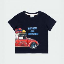 camiseta bebe niño marino estampado coche