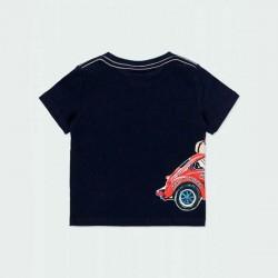 camiseta bebe niño marino estampado coche por detrás