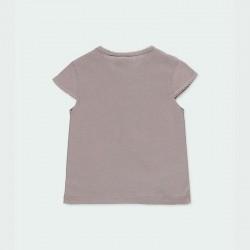 camiseta niña gris de flamenco colores por detrás