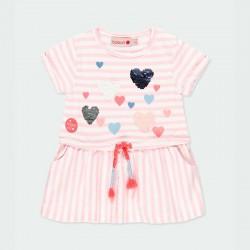 vestido bebe niña rayas rosa de boboli