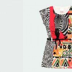 estampado vestido étnico de niña