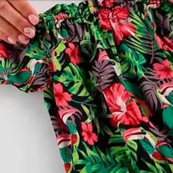 estampado tropical en blusa niña boboli