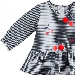 detalle vestido punto bebe ido de cerezas