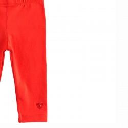 detalle leggins rojos bebe niña de ido