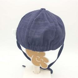 gorra punto bebe azul marino de monnuage por detrás