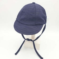 gorra punto bebe azul marino de monnuage