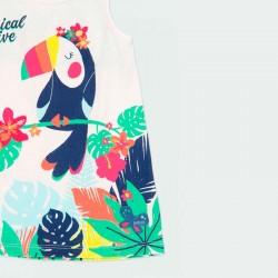 estampado tropical vestido boboli de verano