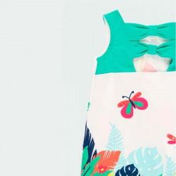 detalle vestido punto bebe estampado tropical por detrás
