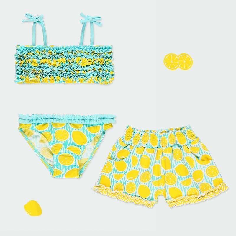 conjunto bikini y short niña