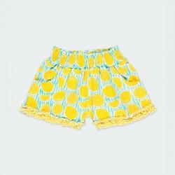 short punto niña limones