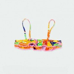 parte de arriba bikini niña frutas tropicales