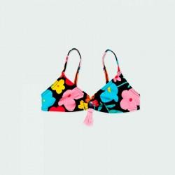 parte de arriba de bikini niña flores