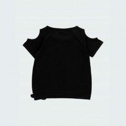 camiseta negra niña estampado print de boboli por detrás