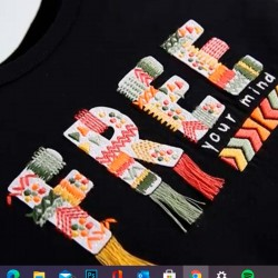original estampado camiseta niña negra de boboli