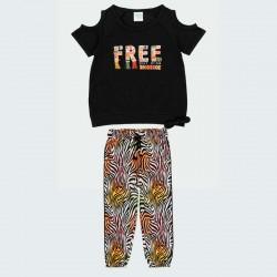 conjunto niña camiseta y pantalón estampado print