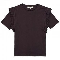 camiseta manga corta niña gris acero